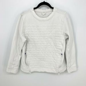 Lululemon CrewNeck Zipper Quilted Pullover Sweater